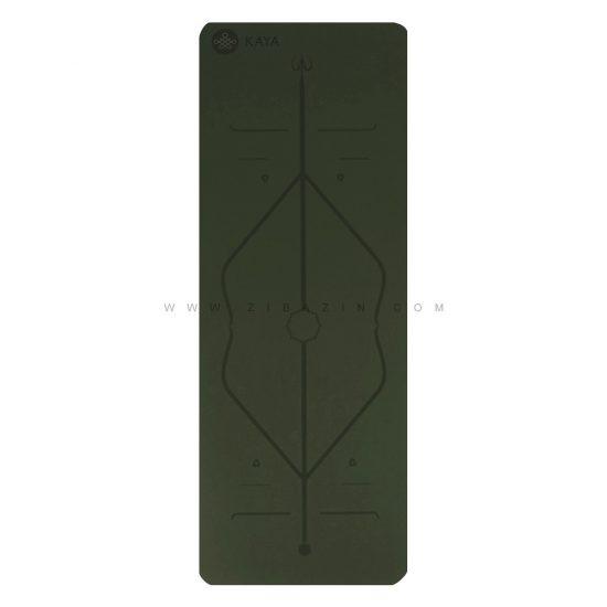 مت یوگا حرفه ای (TPE) دو لایه ۶ میل : سبز فسفری