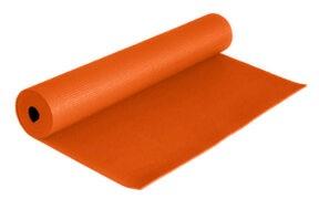 مت یوگا و پیلاتس (PVC) یک لایه ۸ میل : نارنجی