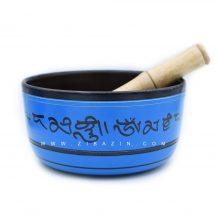 کاسه تبتی (مرتعش) هندی طرحدار : آبی
