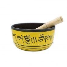 کاسه تبتی (مرتعش) هندی طرحدار : زرد