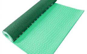 مت یوگا و پیلاتس (PVC) دو لایه استپ دار ۶ میل : سبز یشمی