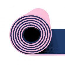 مت یوگا و پیلاتس (TPE) دو لایه ۸ میل : گلبهی سرمه ای + کاور رایگان