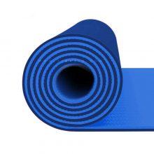 مت یوگا و پیلاتس (TPE) دو لایه ۸ میل : آبی سرمه ای + کاور رایگان