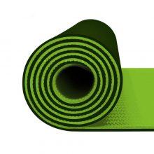 مت یوگا و پیلاتس (TPE) دو لایه ۸ میل : سبز فسفری + کاور رایگان