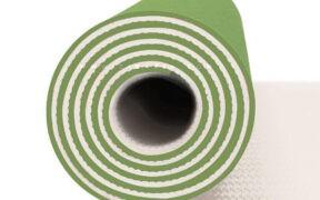 مت یوگا و پیلاتس (TPE) دو لایه ۸ میل : سبز چمنی