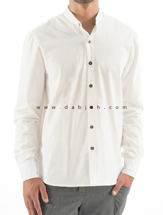 پیراهن آستین بلند لینن مردانه