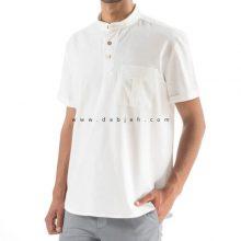 پیراهن آستین کوتاه لینن مردانه