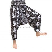 شلوار هیپی یوگا هندی فاق بلند طرح فیل : کد ۱