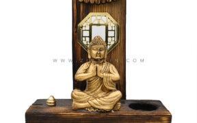 جاعودی و جاشمعی چوبی طرح : بودا