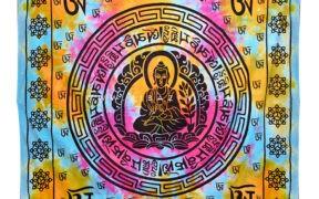 دیوار آویز (بکدراپ) و روتختی دونفره طرح بودا : کد ۲۲۶